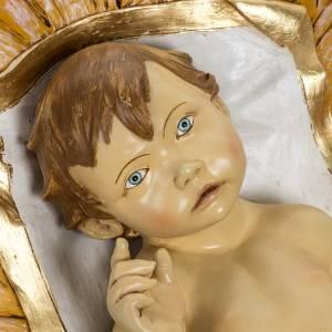 Krippenfiguren: Fontanini Christkind und Wiege Harz 180 cm