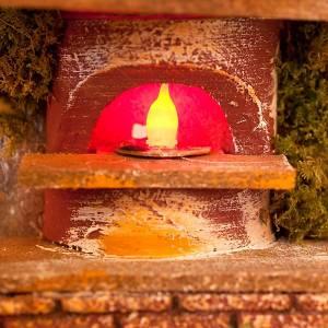 Four effet feu pour crèche de Noël à piles s2