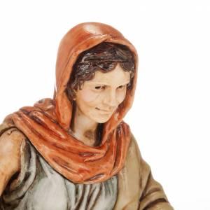 Krippenfiguren: Frau mit Wäsche und Amphore 13cm Krippe Moranduzzo