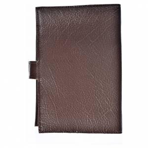 Funda Biblia CEE grande Cristo simil cuero marrón oscuro s2