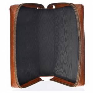 Funda Biblia CEE grande simil cuero marrón Pantocrátor s3
