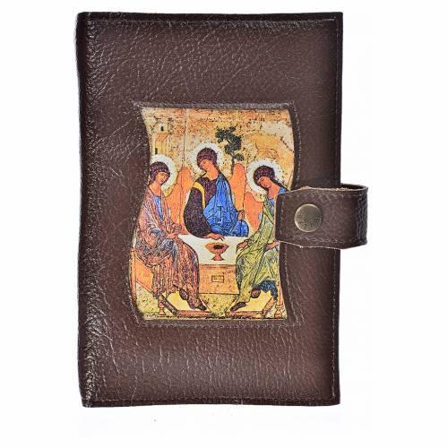 Funda Biblia CEE grande Trinidad simil cuero marrón oscuro s1