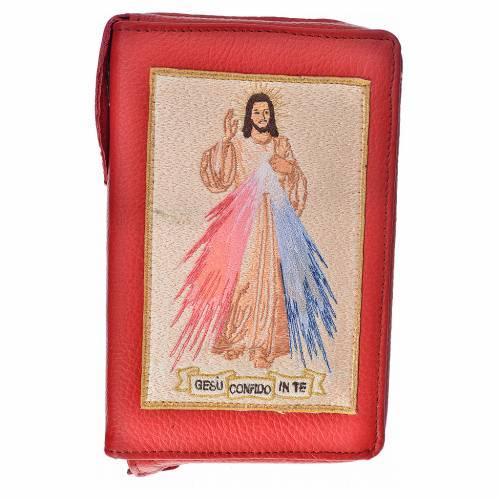Funda Biblia Jerusalén Nueva Ed. cuero burdeos Divina Misericordia s1