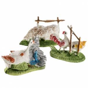 Animales para el pesebre: Gallináceas para el presepe con 3 piezas de 10 cm