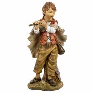 Garçon avec flute crèche Fontanini 125 cm s1