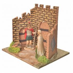 Gardes romaines et muraille décor crèche s2