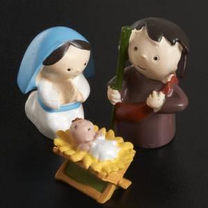 Heilige Familie: Geburt aus Harz 3 Stücke 4,5 cm