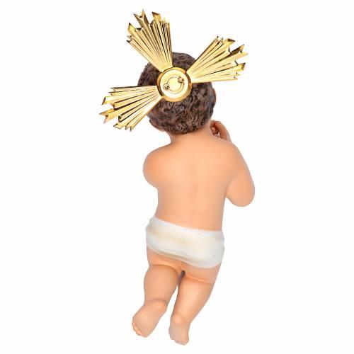Gesù Bambino 20 cm in pasta di legno dec. fine s2