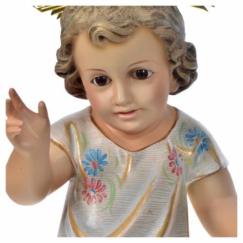 Gesù Bambino benedicente 35 cm pasta di legno dec. Speciale s3