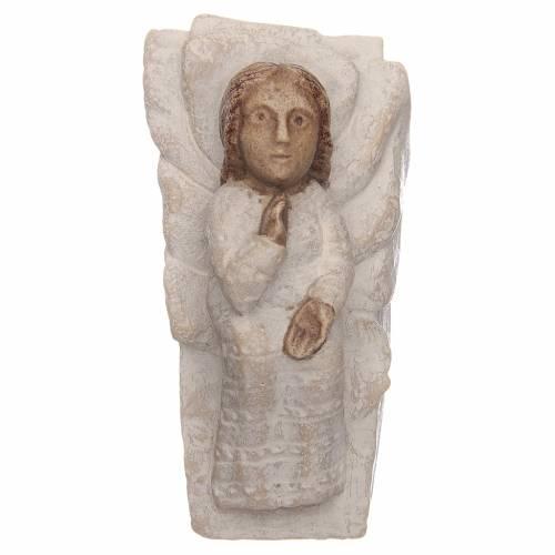 Gesù Bambino pietra Presepe d'autunno bianco dipinto s1