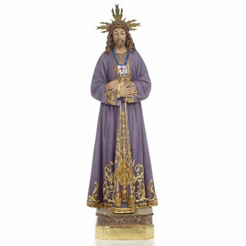 Gesù di Nazaret di Medinaceli 50 cm pasta di legno dec. superio s1