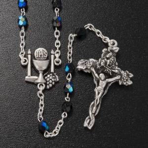 Ghirelli collection rosary beads: Ghirelli rosary, black First Communion, 5mm