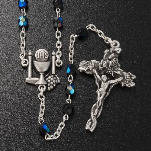 Ghirelli rosary, black First Communion, 5mm s2