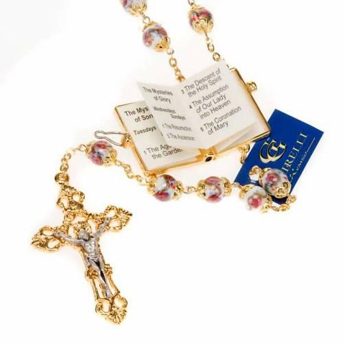 Ghirelli rosary hand-painted Bohemia glass beads s2