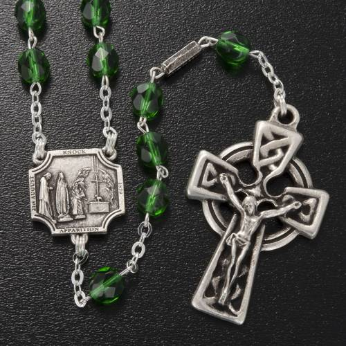 Ghirelli rosary Knock half-crystal green 7 mm s2
