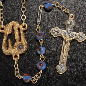 Ghirelli rosary Lourdes Grotto, bleu-orange 6mm s2