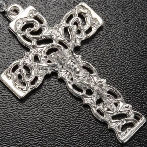Ghirelli rosary Lourdes Grotto, maroon 8mm s4