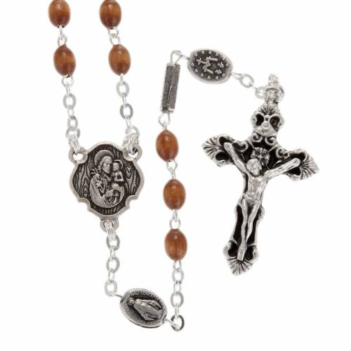 Ghirelli rosary with St. Joseph wood 4x6 mm s1
