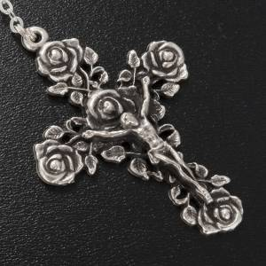 Ghirelli silver rosary, Our Lady of Guadalupe 6x8mm s5