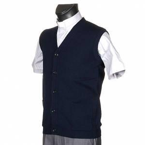 Gilet ouvert avec poches, bleu s2