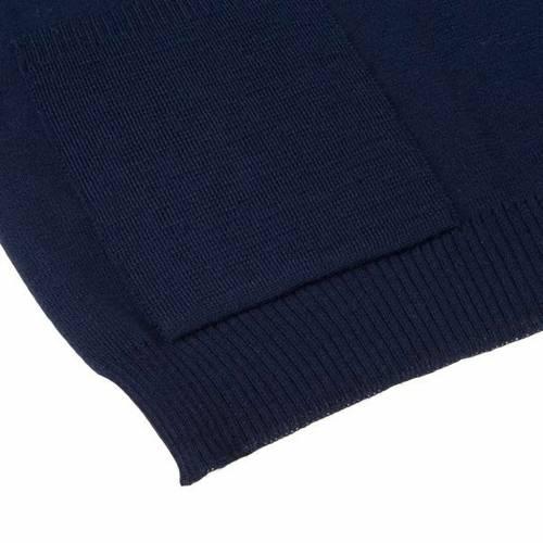 Gilet aperto con tasche blu s4