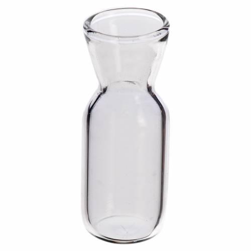 Glass wine bottle for nativity, 3.7x1.4cm s1