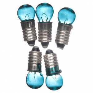 Lichter und Laterne für Krippe: Glühbirne E5,5 blau 5 Stk. 3v.