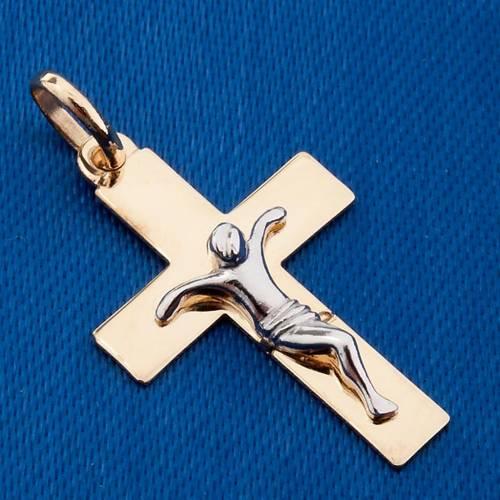 Gold crucifix pendant - 1,50 gr s3