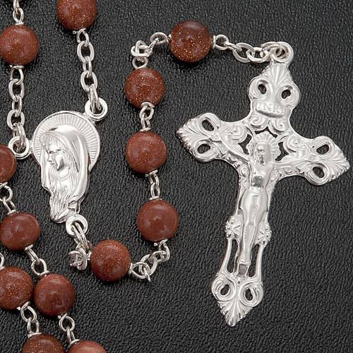 Gold Sand rosary in 925 silver 3