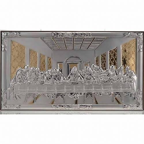 Gold/silver Bas Relief - Leonardo's Last Supper s1