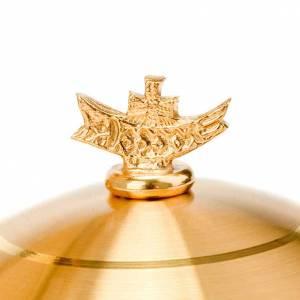 Metal Chalices Ciborium Patens: Golden Chalice and Ciborium hammered