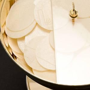 Metal Chalices Ciborium Patens: Golden Ciborium with plexiglass rotating lid