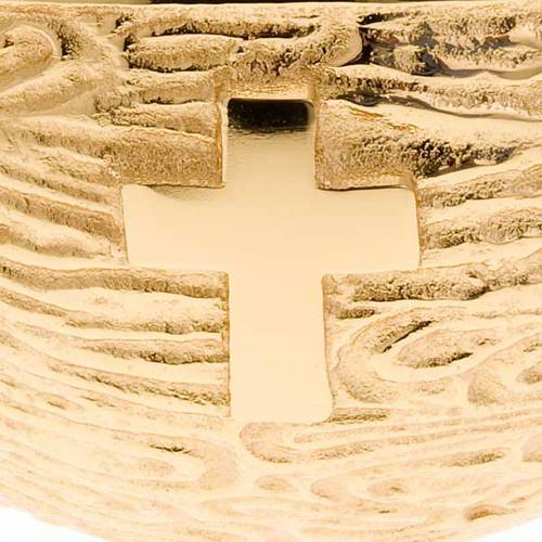 Golden Holy Water font with ears of wheat s2