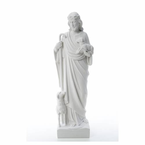 Good Shepherd with sheep, statue in reconstituted marble s1