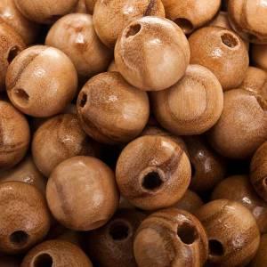 Grains chapelet bois d'olivier rond s2