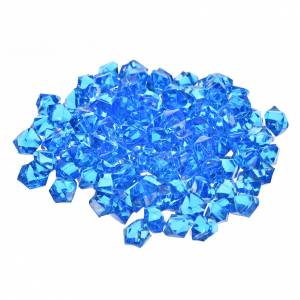 Gravier bleu pour pavage crèche noël 150g s1