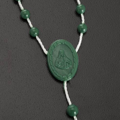 Green nylon rosary s3