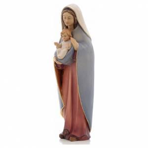Statuen aus gemalten Holz: Grödnertal Holzschnitzerei Madonna des Herzes