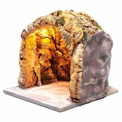Grotta presepe napoletano 25x25x25 cm illuminata s2