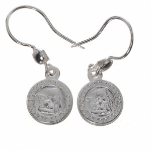 Guardian Angel earrings in 800 silver, white finish s1