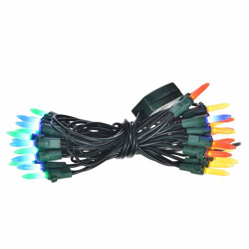Guirlande lumineuse 35 bougies leds multicolores pour intérieur s1
