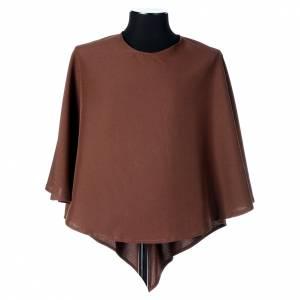 Albas litúrgicas: Hábito franciscano capucha marrón poliéster
