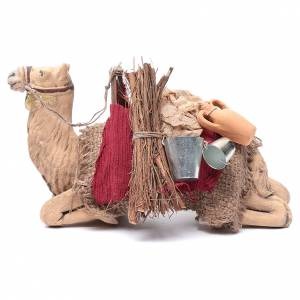 Harnessed sitting camel for Neapolitan nativity 14cm s1