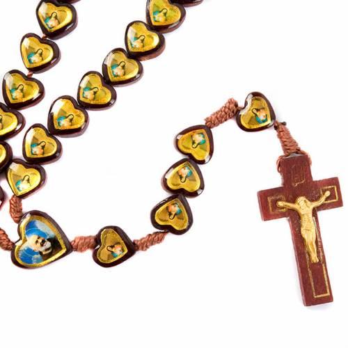 Heart-shaped beads multi-image rosary s1