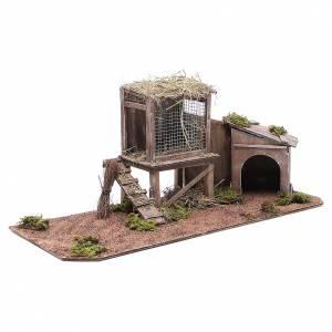 Hen house for Neapolitan Nativity measuring 24cm s3