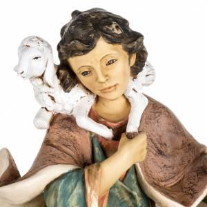 Krippenfiguren: Hirte Harz Fontanini mit Lamm und Schaf 85 cm