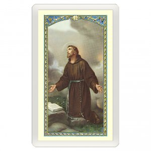Holy cards: Holy card, Saint Francis of Assisi, Where There Is Charity ITA, 10x5 cm