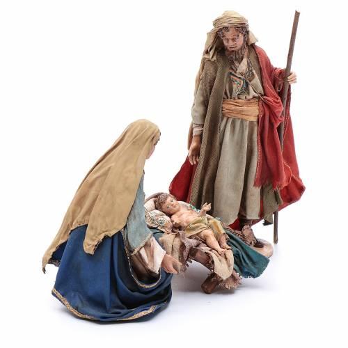 Holy Family in terracotta 18cm, Angela Tripi s4
