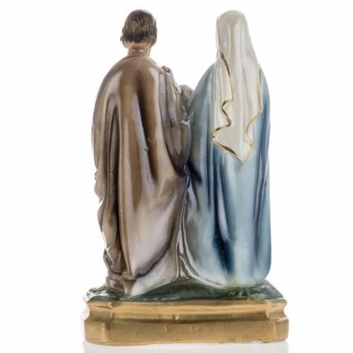 Holy Family statue in plaster, 25 cm s4