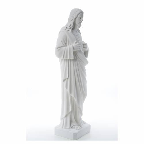 Holy Heart of Jesus -  Reconstituted Carrara Marble Statue 80-100 cm s4